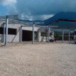 Pensilina in acciaio presso capannone - Gualdo Tadino (Pg)