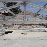 Struttura tetto presso abitazione privata